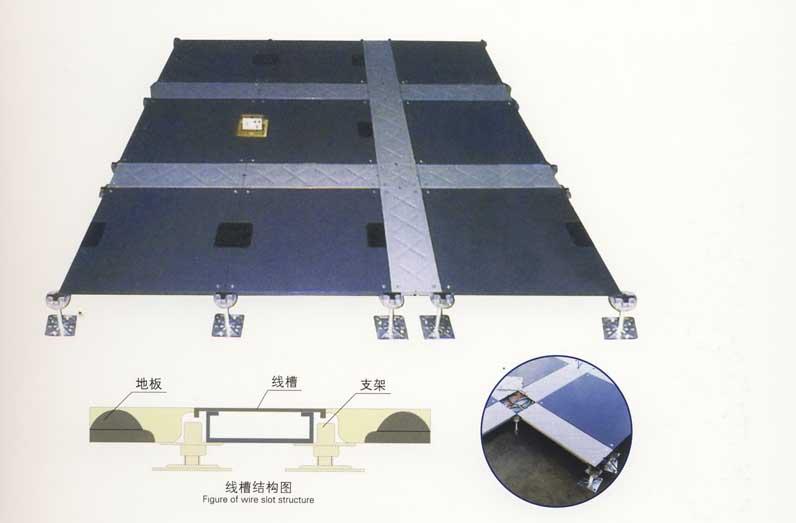 全鋼OA地板加線槽結