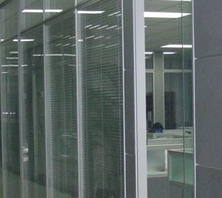 铝合金百叶玻璃隔断