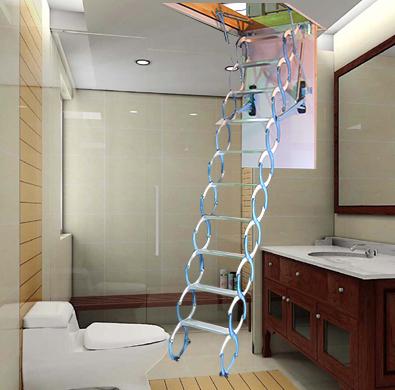 阁楼楼梯多少钱 沈阳伸缩楼梯 遥控伸缩楼梯