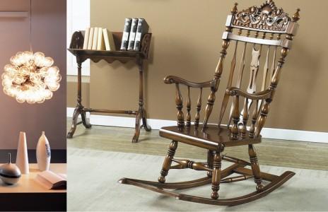 韓國進口桃花芯木YERAM家具--搖椅2