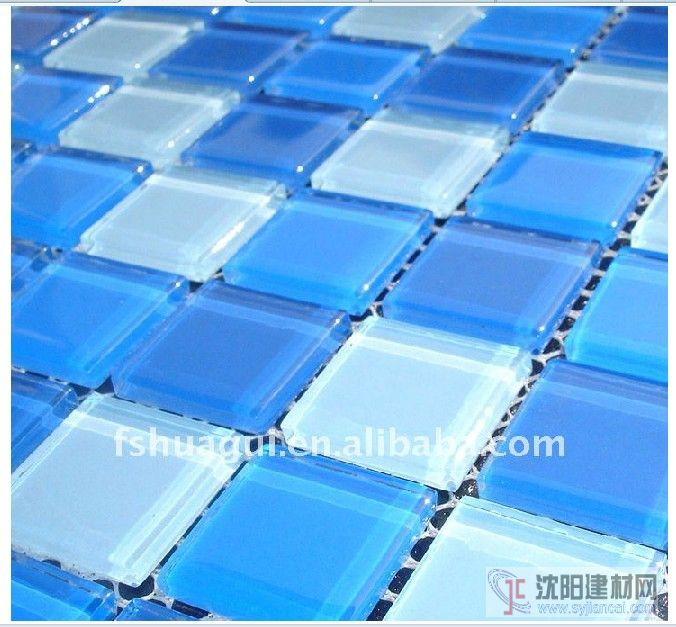 藍色水池馬賽克浴室背景墻裝修