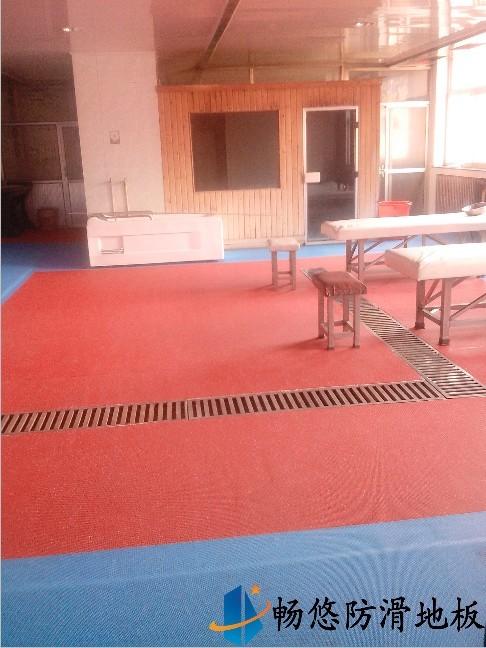 山西忻州金华宾馆洗浴中心防滑地板工程