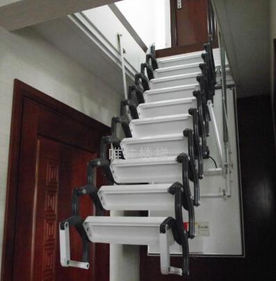 双控电动阁楼伸缩楼梯 遥控阁楼楼梯 上海伸缩楼梯