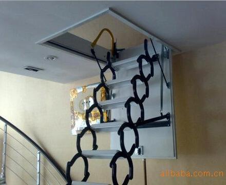 电动阁楼伸缩楼价格 大连折叠阁楼楼梯多少钱