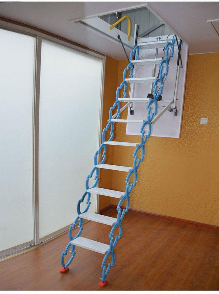 阁楼隐藏楼梯价格 吉林 白山电动阁楼楼梯多少钱