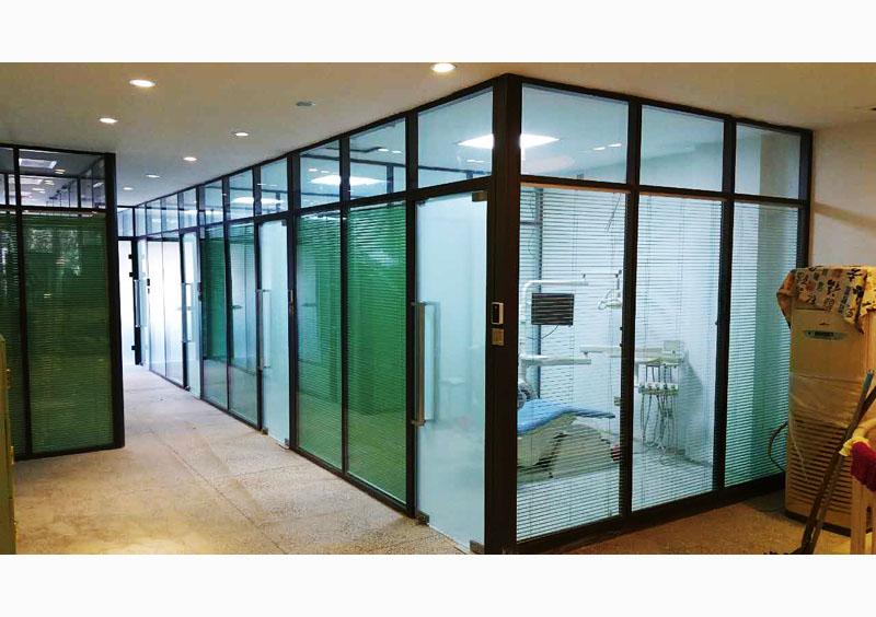 沈阳方科玻璃隔断-顺通口腔 施工项目