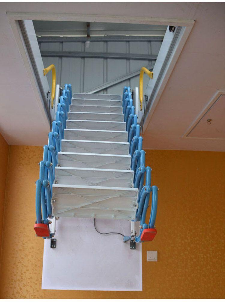 阁楼伸缩楼梯多少钱  电动阁楼楼梯 无锡伸缩楼梯