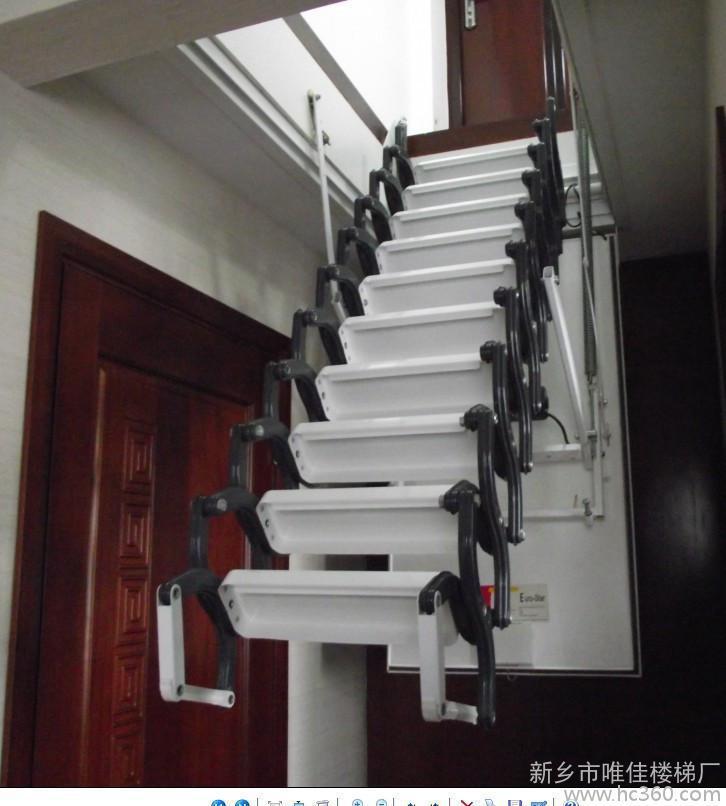 阁楼电动楼梯厂家 阁楼伸缩梯子 宁波伸缩楼梯价格
