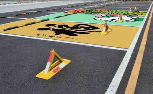 地下车库停车场车位绘画