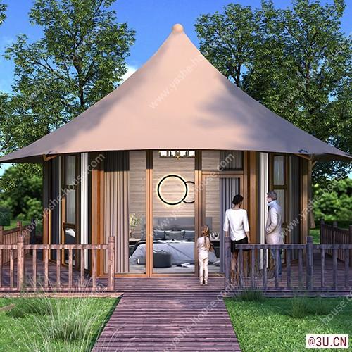 野奢·雅系列豪華單頂多邊型野奢帳篷