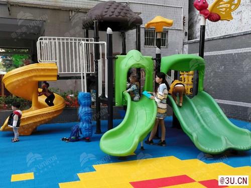 广州幼儿园地板软米格悬浮塑料地板现货